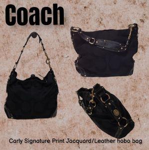 Coach Carly Signature Jacquard Leather Hobo bag
